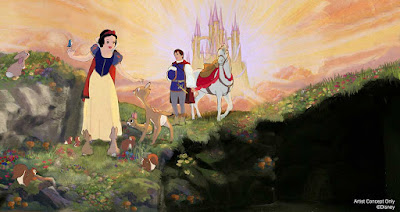 Snow White's Scary Adventures Happy Ending 2020 Changes Concept Art Disneyland