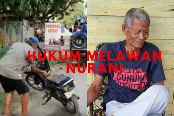 Begini Pengakuan Kakek Bakar Motor Kena Razia, Netizen: Sungguh Ironi Negara ini, Terbuat dari Apakah Hati Polisi