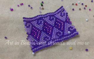 necklace in Peyote stitch