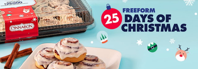 Cinnabon has teamed up with Freeform to offer you a chance to win $25,000 CASH to make Christmas merry and bright this year for one lucky winner!