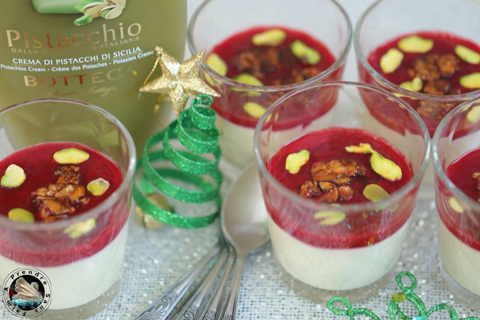 Crème de pistaches aux framboises