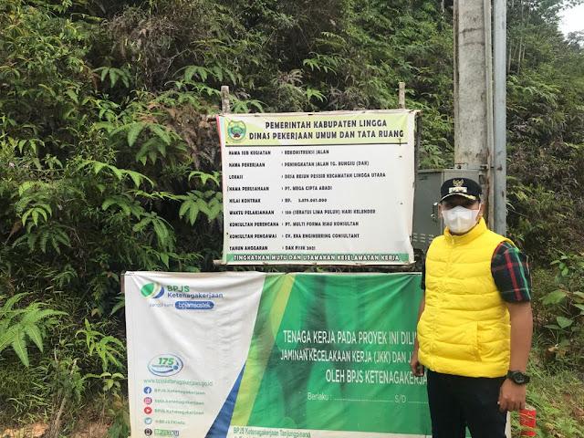 Pengerjaan Proyek Jalan di Tanjung Bungsu Lingga Utara Lambat, Wabup Lingga Akan Memanggil Dinas Pekerjaan Umum