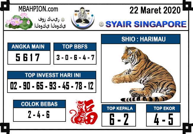 Prediksi Togel Singapura Minggu 22 Maret 2020 - Prediksi Mbahpion