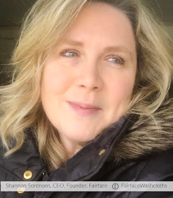 Founder of Fairface washcloths for sensitive skin Shannon Sorensen