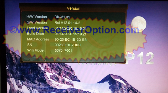 REDVISION P12 HD RECEIVER NEW SOFTWARE 14 JANUARY 2020