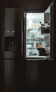 Interior american style fridge