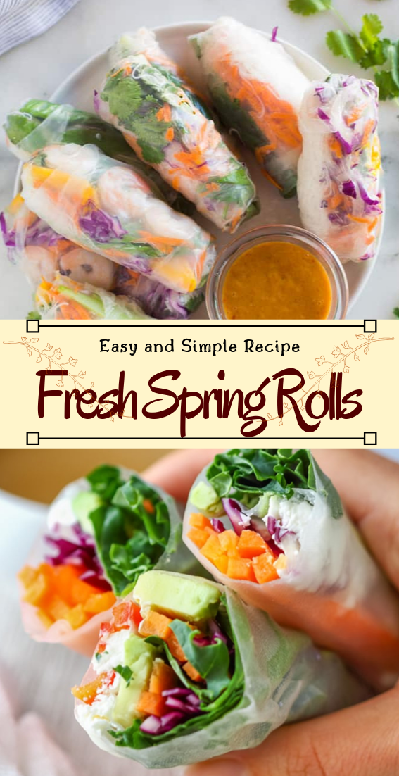 Fresh Spring Rolls #vegan #vegetarian #soup #breakfast #lunch