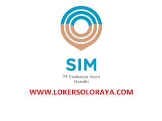 Lowongan Kerja Sukoharjo Juli 2021 di PT Swakarya Insan Mandiri