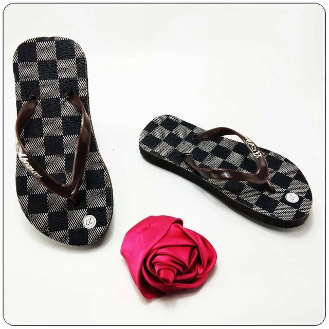 Sandal Motif TERLARIS | Sandal Anak| Sandal Jepit AMX Motif Bunga Anak