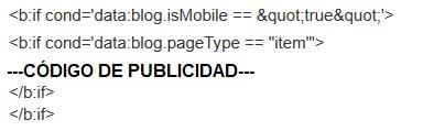 Código publicidad comentarios Blogger