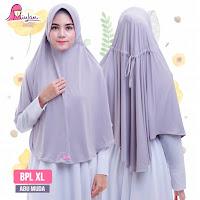 hijab syari jumbo bpl xl plain laura abu muda