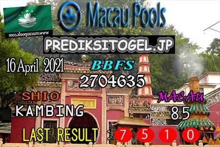 Prediksi Wangsit Togel Macau Jumat 16 April 2021