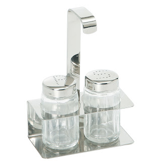 Set pentru condimente 2-bucati - sare, piper 100x50x(H)140 mm