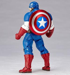 Amazing Yamaguchi Revoltech Captain America - Kaiyodo