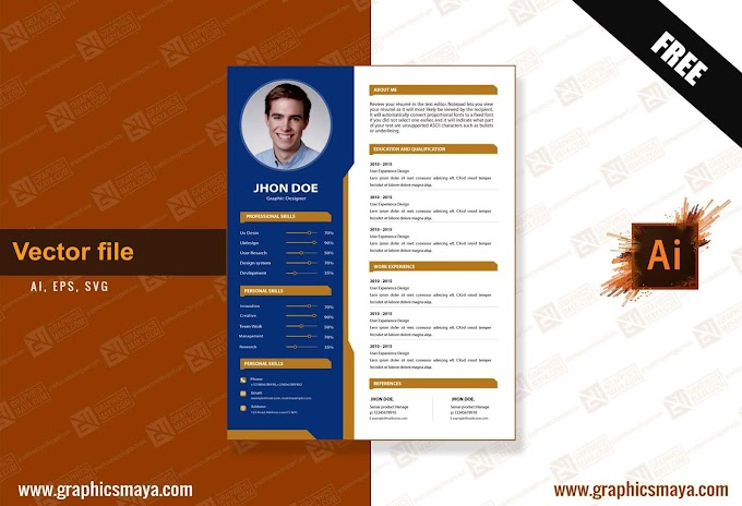 Abstract Resume Template Ai || Vector File Download