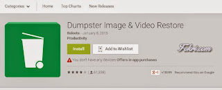 Dumpster android application