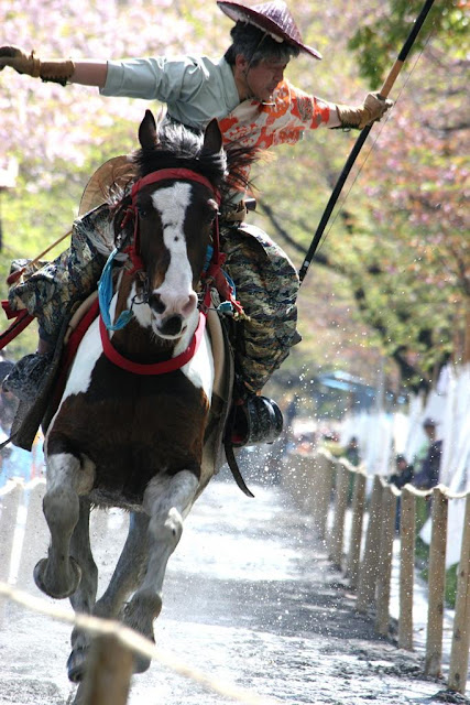 Asakusa Yabusame (shooting of arrows while riding horse) at Sumida park, Tokyo