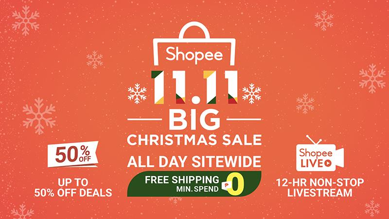 Shopee Partners With Gma7 Announces 11 11 Big Christmas Sale 2019