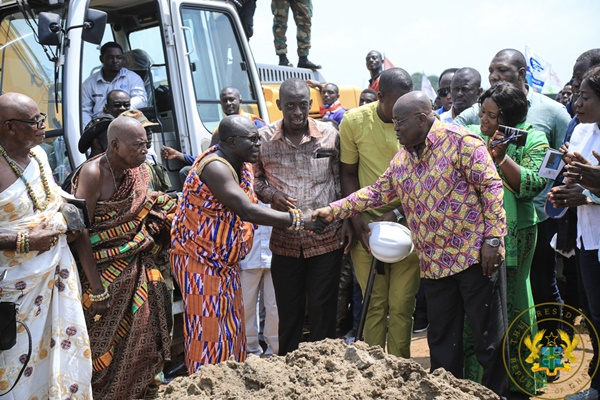 President Akufo-Addo Cuts Sod For Axim Mini Harbour And Fish Landing Site