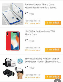 Club factory 1 Rupee sale - get a chance to win Redmi go smart phone in just Rs 1.