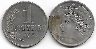 Moeda de 1 Cruzeiro, 1974