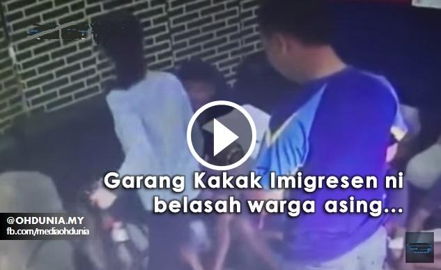 Video: Pegawai Imigresen Wanita Belasah Warga Asing