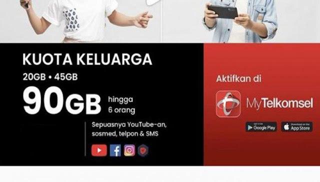 Paket Internet Murah Telkomsel 90 GB Untuk 6 Orang dan 10 GB Hanya Rp 20 Ribu, Berikut Cara Mengaktifkannya