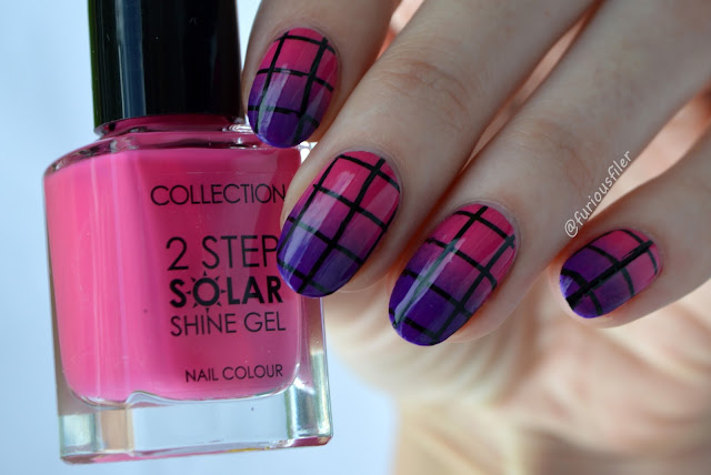 geometric stamp collection solar shine sunset pink gradient