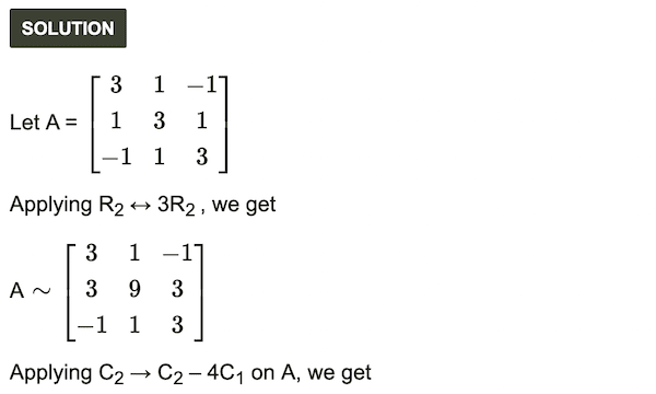 Matrices Exercise 2.5 HSC Commerce.