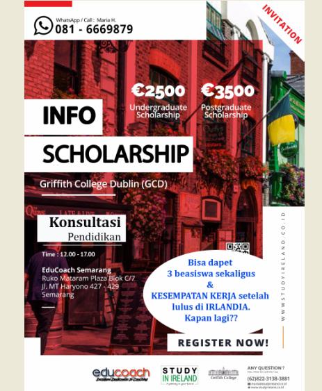 Info Beasiswa Study Lanjut | Griffith College Ireland