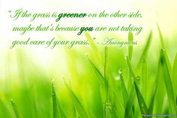 Grass Is Always Greener Quotes: I Define Me: Grass Is Not Always Greener