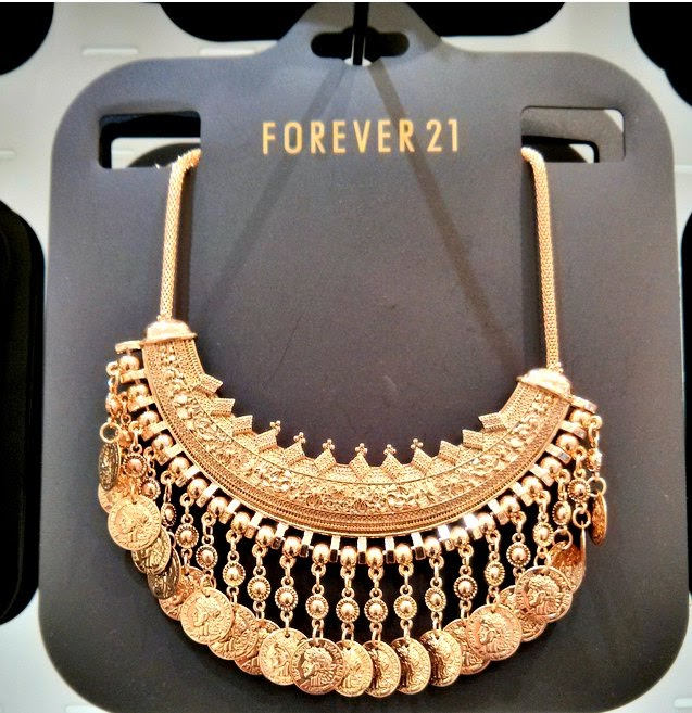Forever 21 coin necklace