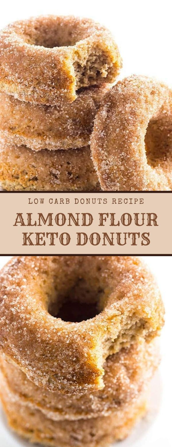 LOW CARB DONUTS RECIPE - ALMOND FLOUR KETO DONUTS