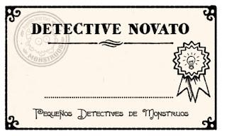 Contrato de detective novato del juego de rol para niños pequeños detectives de monstruos