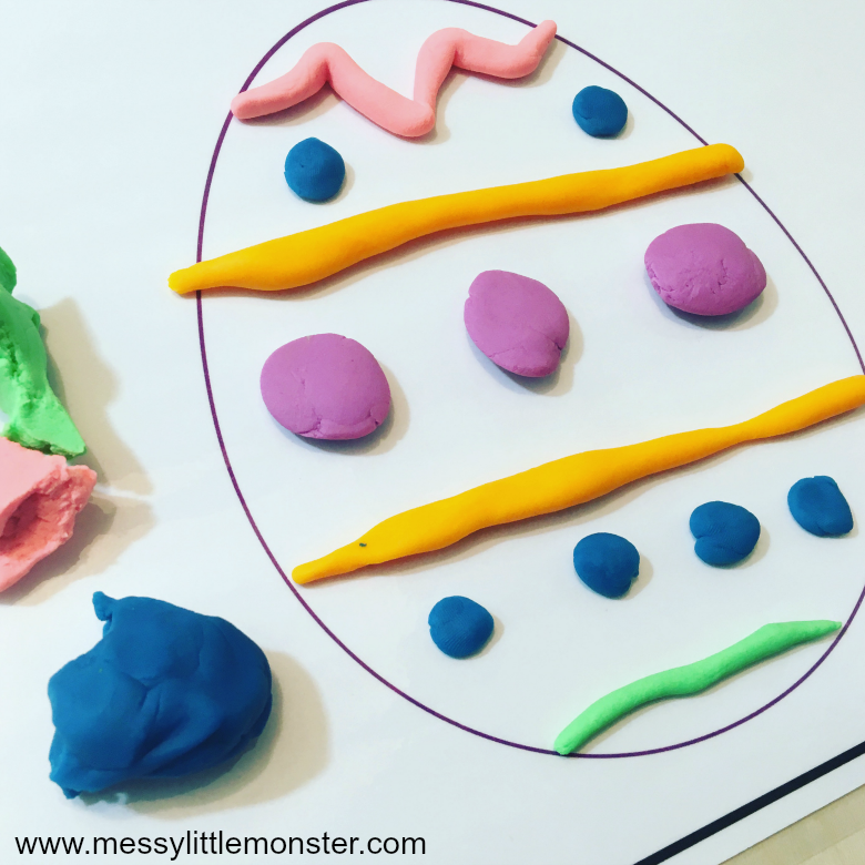 Easter playdough mats - Easter activities for preschoolers and toddlers