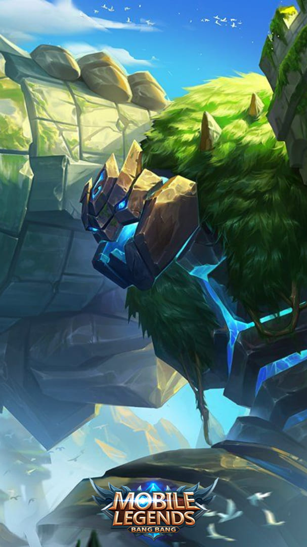 Wallpaper Grock Fortress Titan Skin Mobile Legends HD for Android and iOS