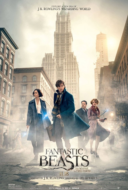 FANTASTIC BEASTS AND WHERE TO FIND THEM (2016) movie review by Glen Tripollo