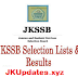 JKSSB Selection Lists for Theater Assistant/Technician Posts  Apply Now