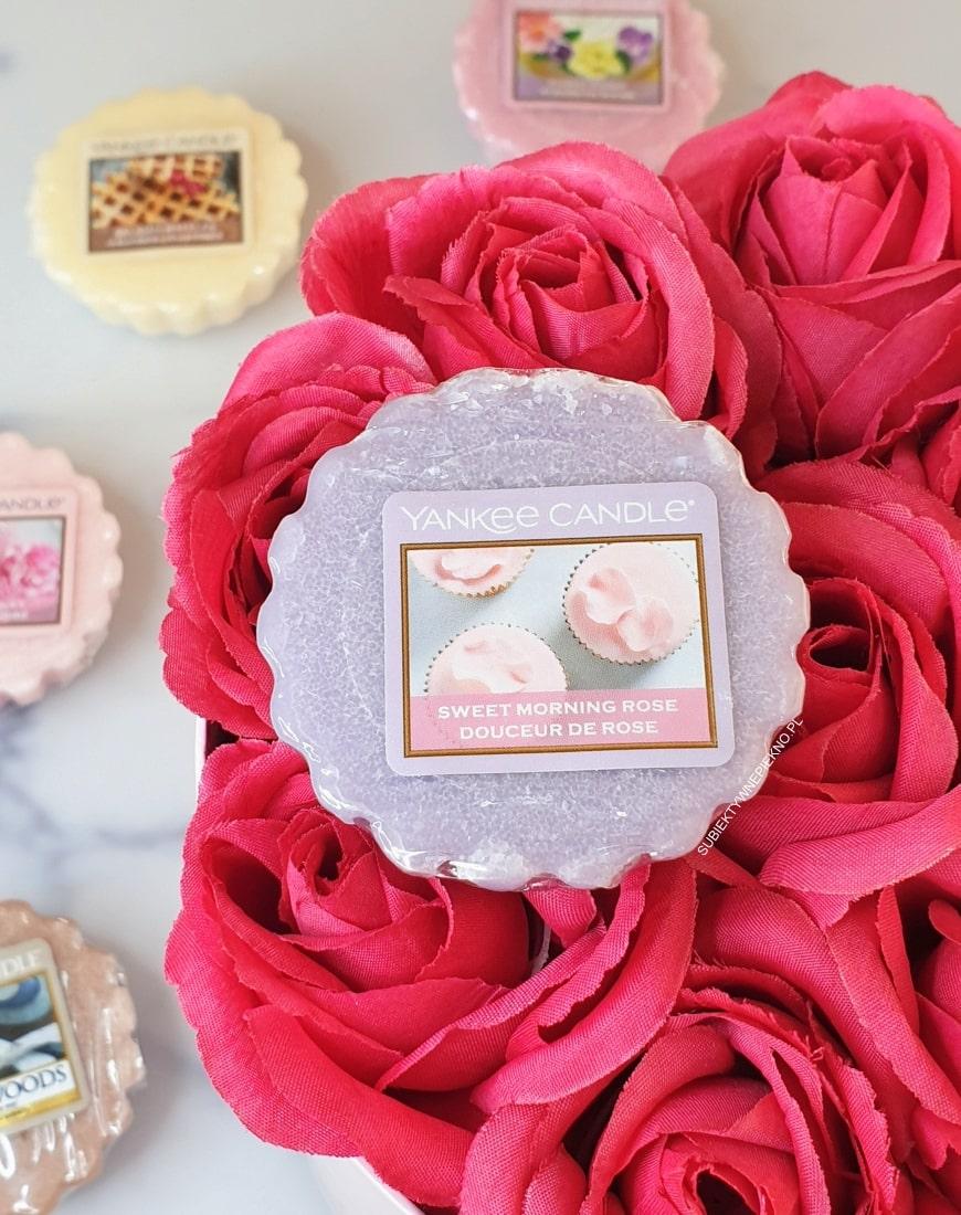 SWEET MORNING ROSE YANKEE CANDLE, czyli piękne perfumy w formie wosku ♥