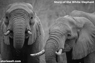 Story of the White Elephant, love and respect for mother,