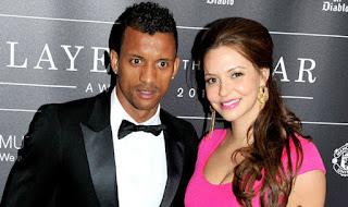 Nani and his wife