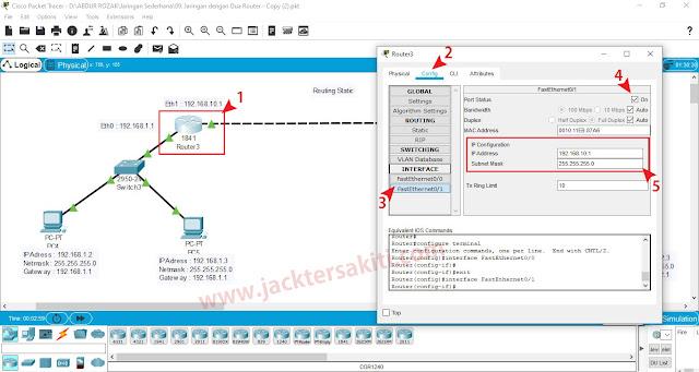 Cara Konfigurasi Routing Static dengan Dua Router di Cisco Packet Tracer
