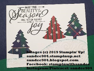 2019-20 Annual Catalog, 2019 Holiday Catalog, Merry Christmas to All Stamp Set, Pine Tree Punch, Swirls & Curls EF, handmade, holiday cards, #ilovepapercrafts, #simplestamping