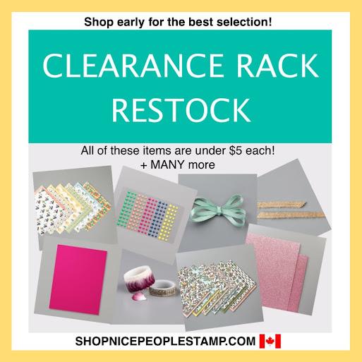 canada clearance rack restock