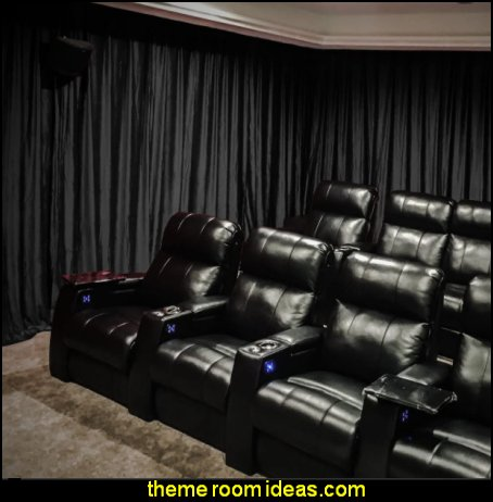 theater curtains Velvet Blackout Home Movie Theater Curtain Drapes cinema room curtains