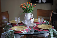 Farmhouse Breakfast With Tulips