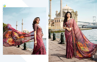 Vinay fashion Sheesha Rangoli Silk georgette saree
