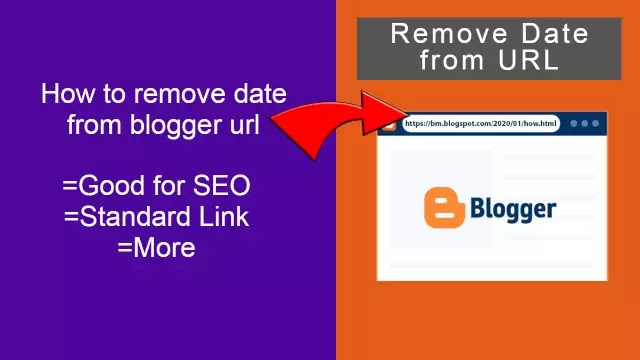 How To Remove Date From Blogger Post URL - Remove date from url