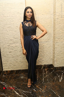 Actress Rakul Preet Singh Stills in Beautiful Blue Long Dress at Dhruva Salute to Audience Event  0089.JPG