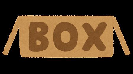 「BOX」のイラスト文字